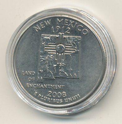 2008 D USA State Quarter Enclosed in Plastic Case - New Mexico