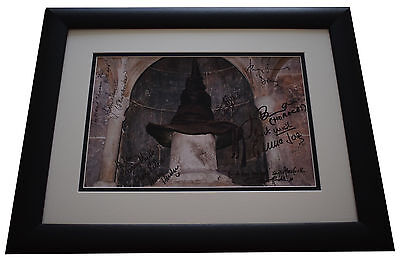 Harry Potter x8 Cast SIGNED FRAMED Photo Autograph 16x12 display Inscription COA