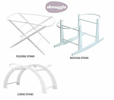 Shnuggle Baby Moses Basket Stand (Rocking, Folding or Curve Stand Available)