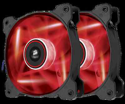 2 ventillos CORSAIR SP120 Led rouge neuf