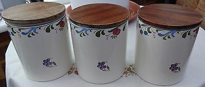 Poole Pottery Storage Jars x 3