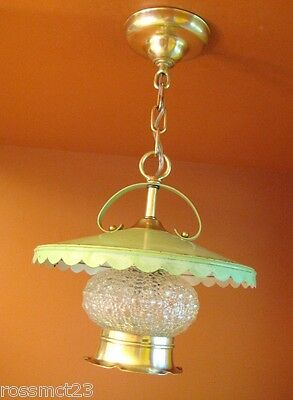 Vintage Lighting antique 1940s Virden green Kitchen ceiling light