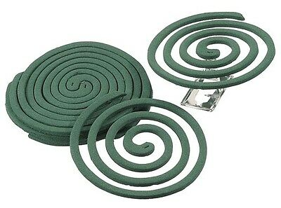 Mosquito Coil Pack of 10 Mozzy Fly Bug Midge Insect Repellent 8 hour burn time
