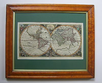 World map: an original antique map by Philipp Cluver, 1652 and later