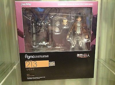 FIGMA Attack on Titan Levi Max Factory 213 Action Figure JAPAN IMPORT US SELLER!