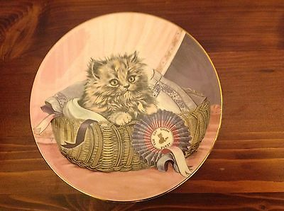 Eighth plate of the Hamilton Collection Kitten Classics Plates. Circa 1985