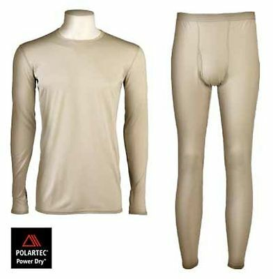 US Army GI ECWCS GEN III Level 1 Underwear Set Tan Polartec ML Medium Long