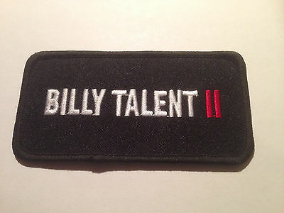 rare promo billy talent II 4x2 iron on patch