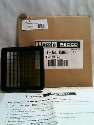 """Lincoln Redco Blade Assmbly Dicer 3/8"""" Cut 15063 Insta Cut 35"""