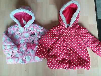 girls infant toddler coat bundle miniclub minnie disney 2-3 years
