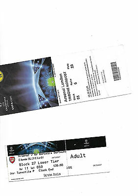 tickets 2011/12 Champions League Arsenal V Dortmund  both games
