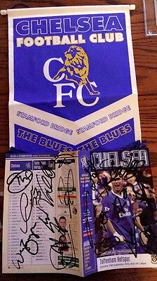 Fully Signed Chelsea Football Programme
