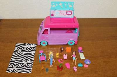 Lot Figurines Polly Pocket, Camping Car + accessoires
