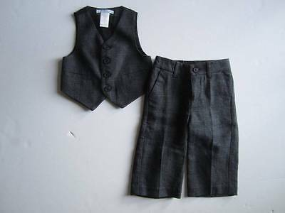 LN Janie and Jack HOLIDAY CLASSIC 6 12 M Suit Vest Pants