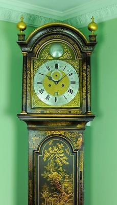 Lacquer Chinoiserie London Longcase Grandfather Clock