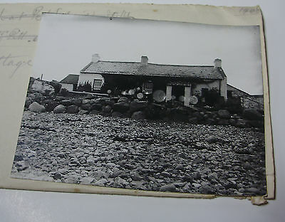 Lot11 - 1909 OMEATH COTTAGE on SHORE - IRELAND Co LOUTH Glass Negative & Photo