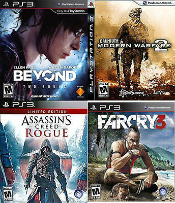 (Lot of 4) Sony Playstation 3, PS3. Games,