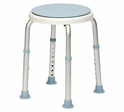 Rotating Round Bath & Shower Stool With Height Adjustable Legs
