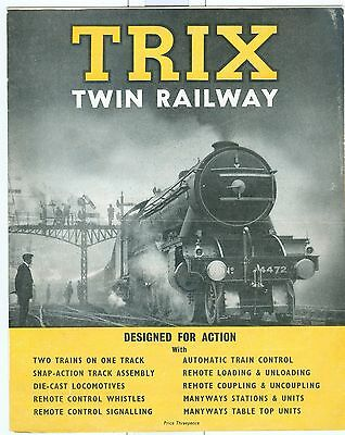 Vintage TRIX Twin brochure train sets, accessories, prices.Flying Scotsman cover
