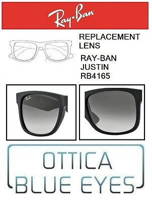 Lenti di Ricambio RAYBAN JUSTIN RB4165 filtri Replacement Lenses Ray Ban 601/8G