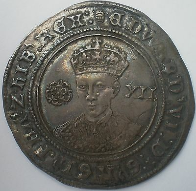 Edward VI Fine Issue Shilling 1547-53 PCGS AU53 & Joint Finest Graded