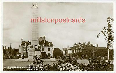 Real Photographic Postcard Of The War Memorial, West Hartlepool, County Durham
