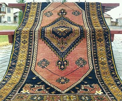 "Beautiful  3'5""×6'5""1900-1930s Wool Pile Muted Dyes Tribal Dowry Rug Turkey"
