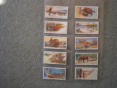 Cadbury Bournville Cocoa Trade Cards Transport Full Set Excellent