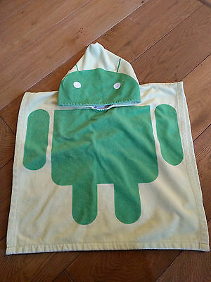 Android Toddler hooded towel