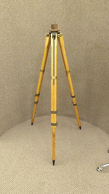 Vtg Dietzgen U.S.C.E. Engineering Transit Tripod Adjustable Wood NICE!