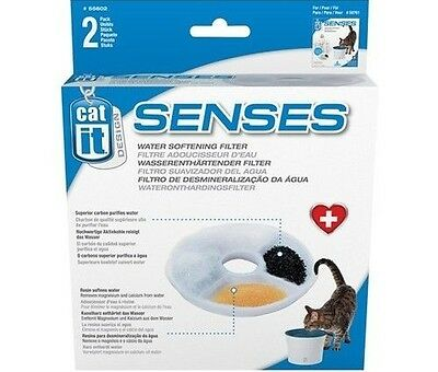 Hagen Catit Senses Water Softening Filter Pk2 Replacement For Fountain 50761