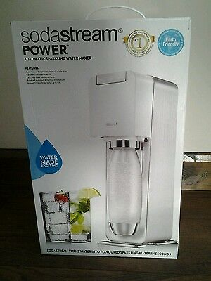 Sodastream Power Automatic  Sparkling Water Maker White - Ideal for Christmas