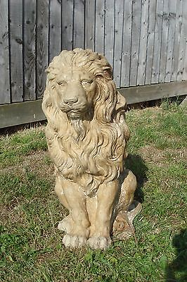 """Latex Rubber Mould Mold + Fibreglass Jacket Of A Sitting Lion 21"""" Height"""