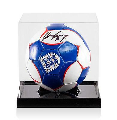 Wayne Rooney Official UEFA EURO 2016 Signed England Football In Acrylic Case