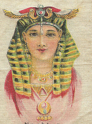 Early 1900s Vintage/antique tobacco cigarette silk EGYPTIAN QUEEN NEPHTYS