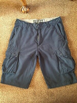 Mens Wear First Navy Blue Cargo Combat Shorts Size 34 Good Condition