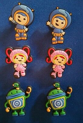 6 Pc Team Umizoomi Milli Geo Bot Jibbitz Shoe Charms Cake Toppers Party Favors