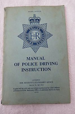 1963 Home Office Manual Of Police Driving Instruction