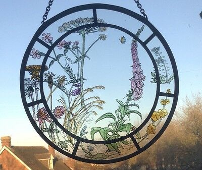 Stained Glass Round Traditional Style Sun Catcher