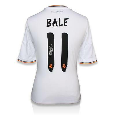 Gareth Bale Back Signed Real Madrid 2013-14 Home Shirt Autograph Jersey