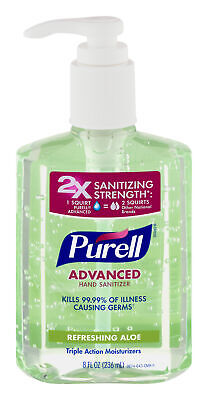 Purell Instant Hand Sanitizer, Aloe Flavor - 8 Oz (Pack of 6)