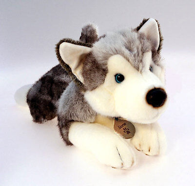 Husky 50cm Soft Toy Dog, Cuddly Keel Toys DeLuxe Soft Toy SD4296
