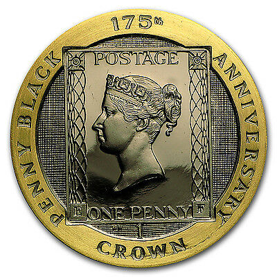 2015 Isle of Man Gold 1 Crown 175th Anniversary Penny Black Proof