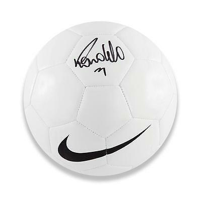 Ronaldo Signed White Retro Nike Football Autograph