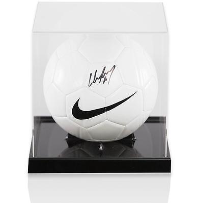 Wayne Rooney Official England Signed Nike Football In Acrylic Case Autograph