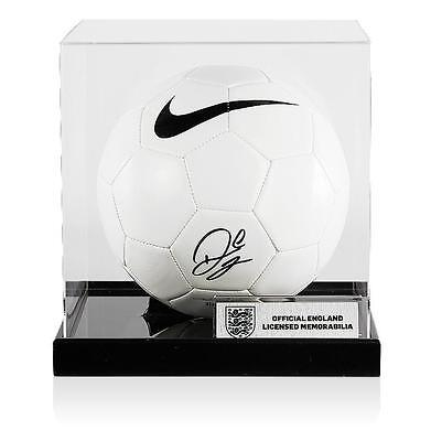 Raheem Sterling Official England Signed Nike Football In Acrylic Case