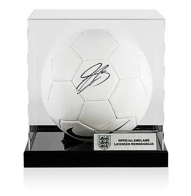 Gary Cahill Official England Signed Nike Football in Acrylic Case Autograph