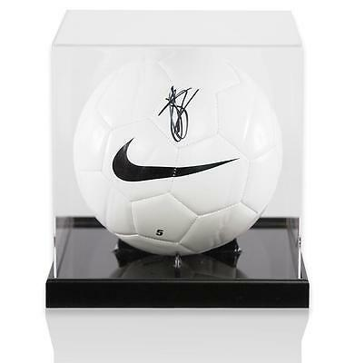 John Stones Official England Signed Nike Football in Acrylic Case Autograph