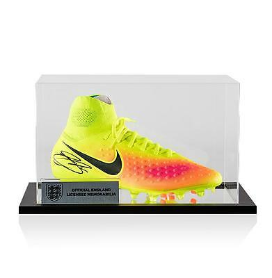 Gary Cahill Official England Signed Nike Magista Boot In Acrylic Case