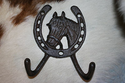 (18), WESTERN DBL. WALL HOOK,horses,ranch, country decor,home decor,garden, W-5
